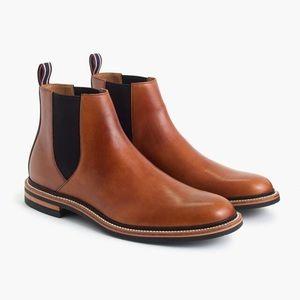 NWB J. Crew Oar Stripe Collab Chelsea Boots Size 8